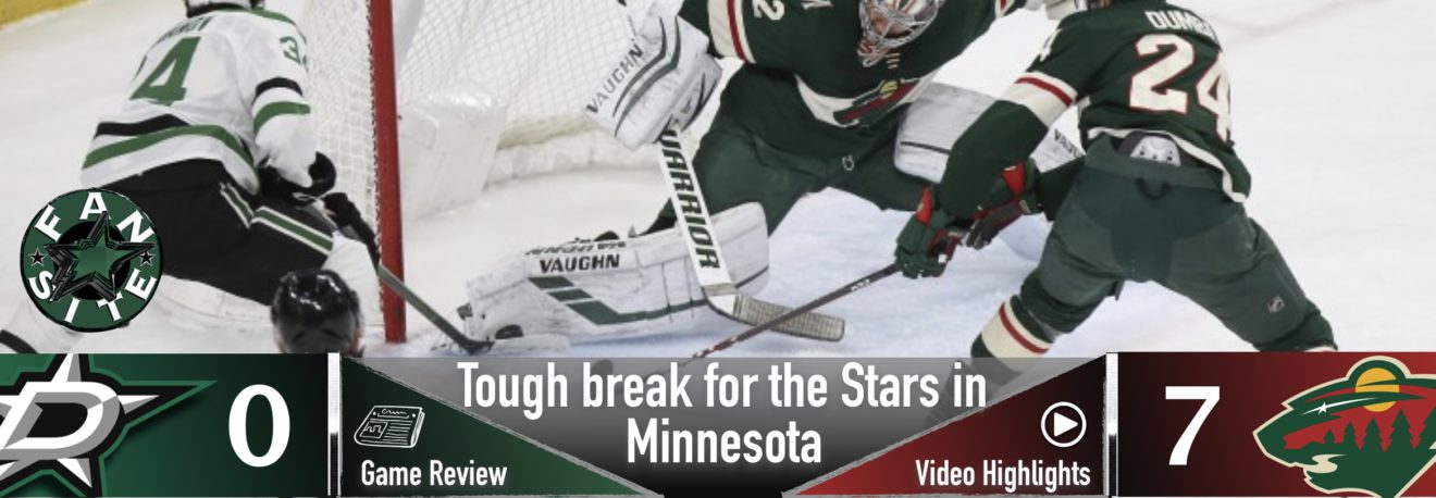 Though break for Stars in Minnesota