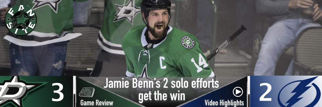 Jamie Benn's 2 solo efforts get the win