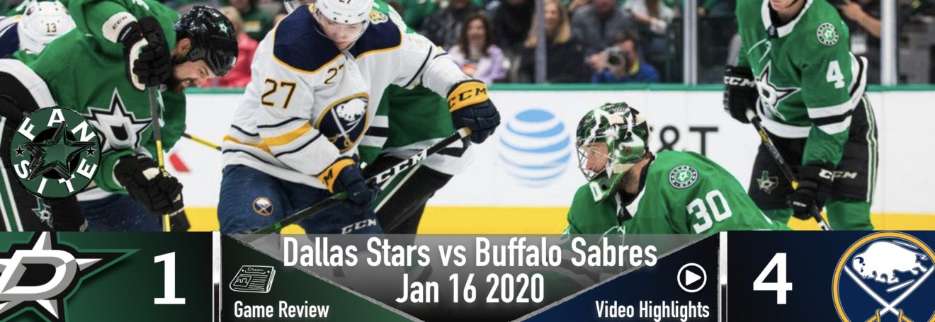 Dallas Stars vs Buffalo Sabres | Jan 16 2020