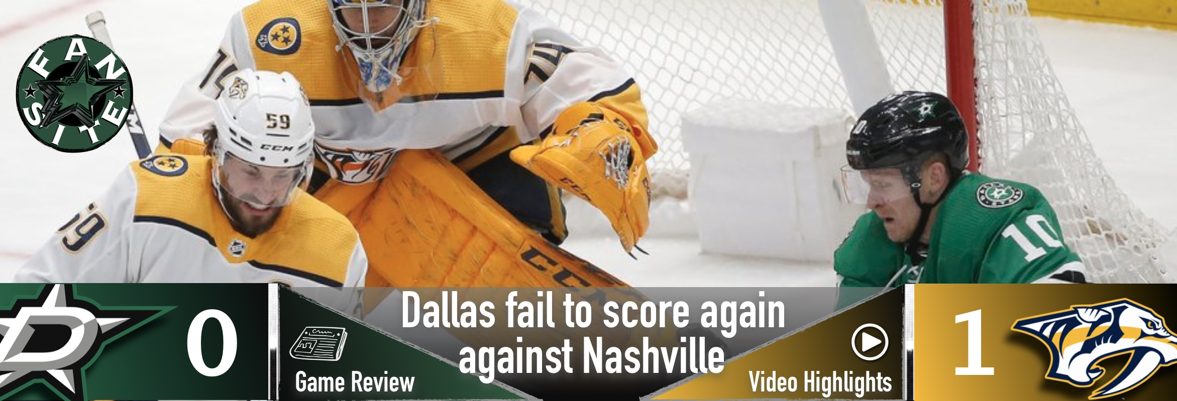 Dallas fails to score again against Nashville