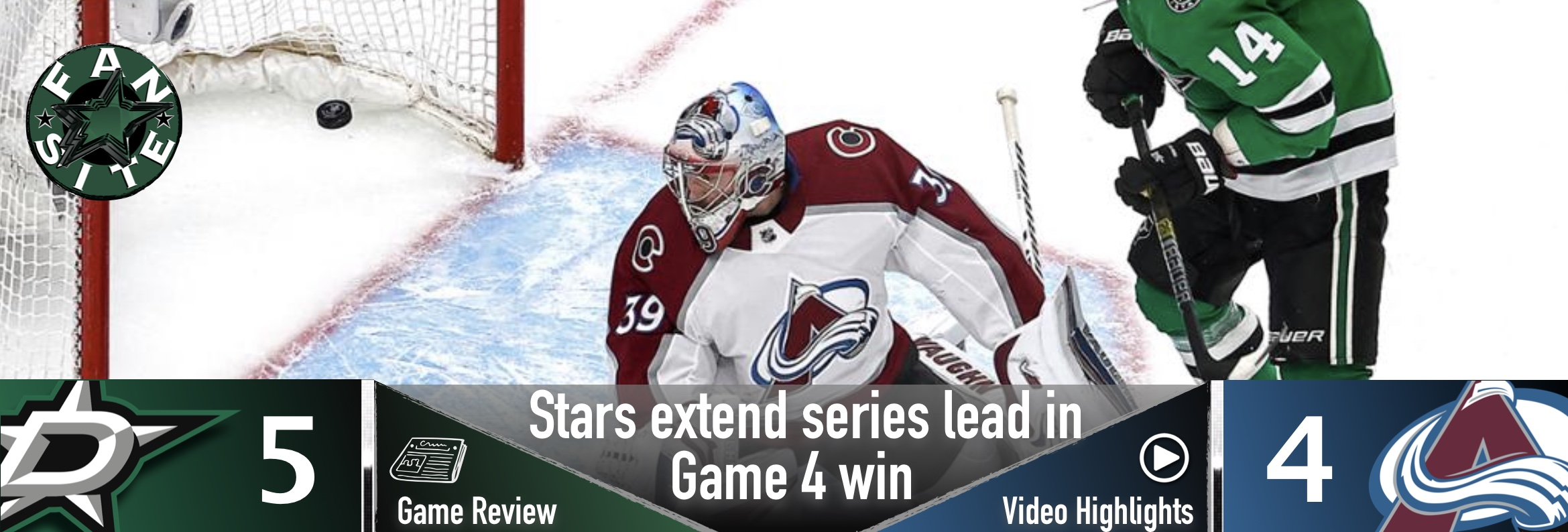 Stars extend series lead in Game 4 win