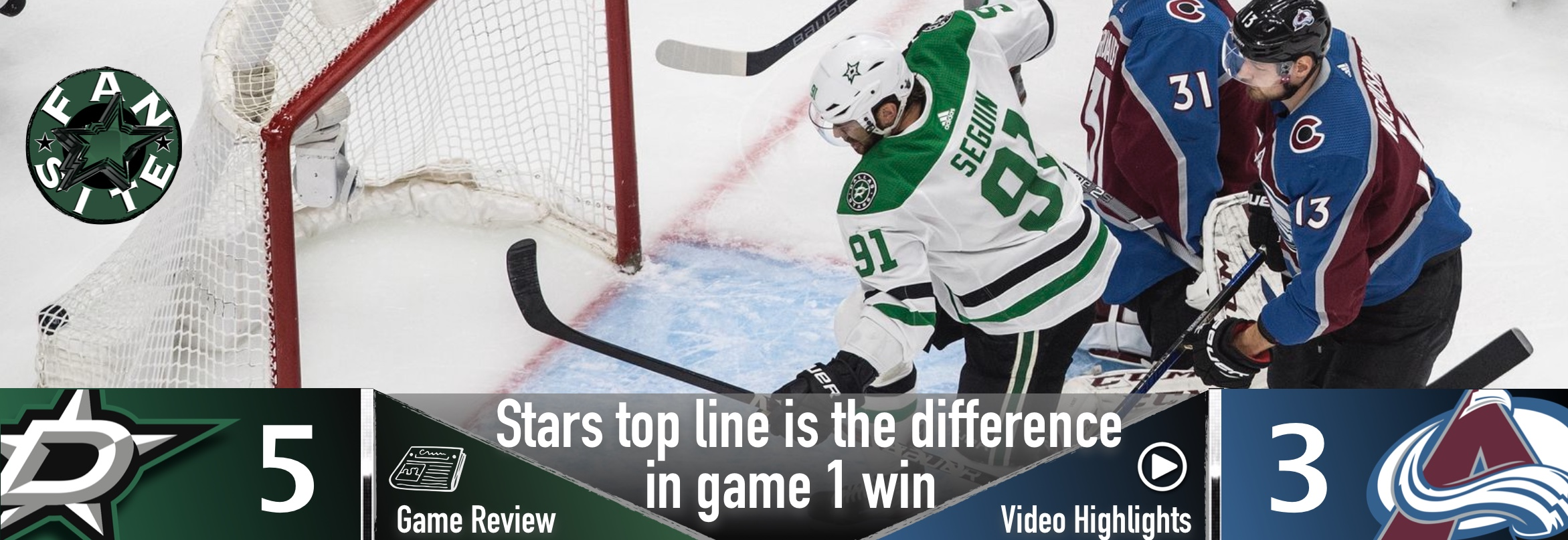 Stars top line is the difference in game 1 win
