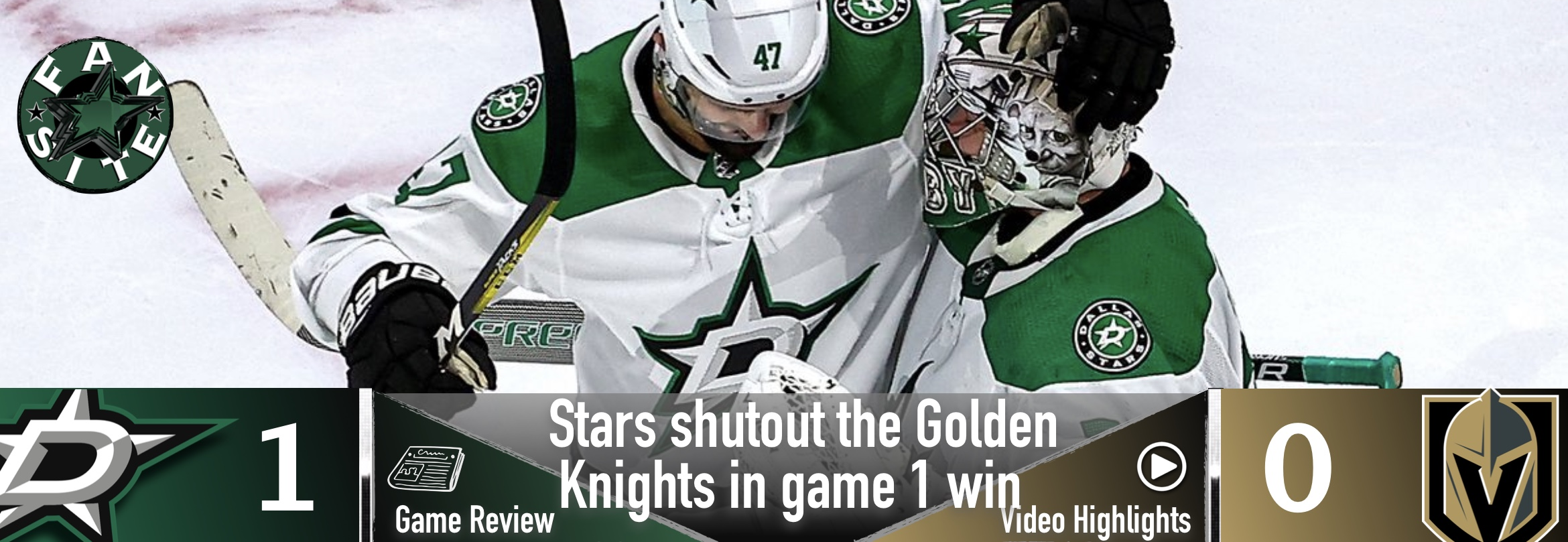 Stars shut out the Golden Knights in game 1 win