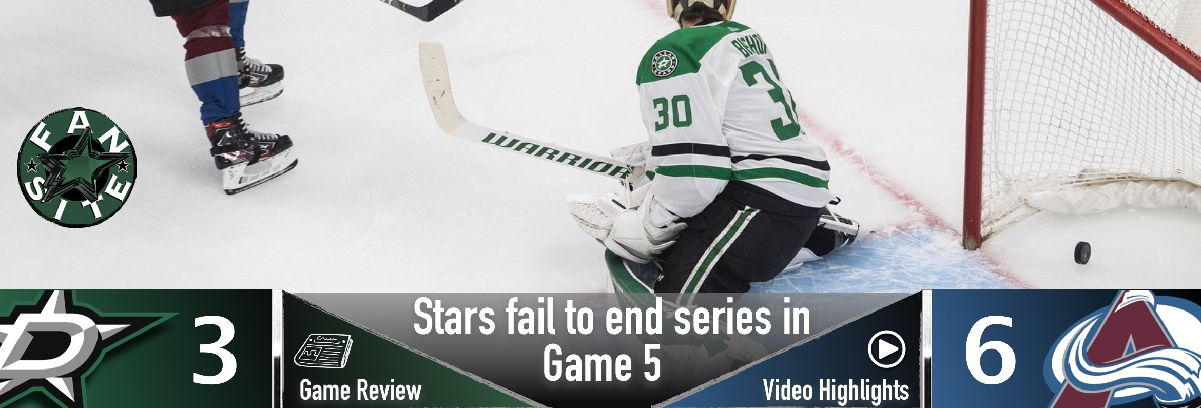 Stars fail to end series in game 5