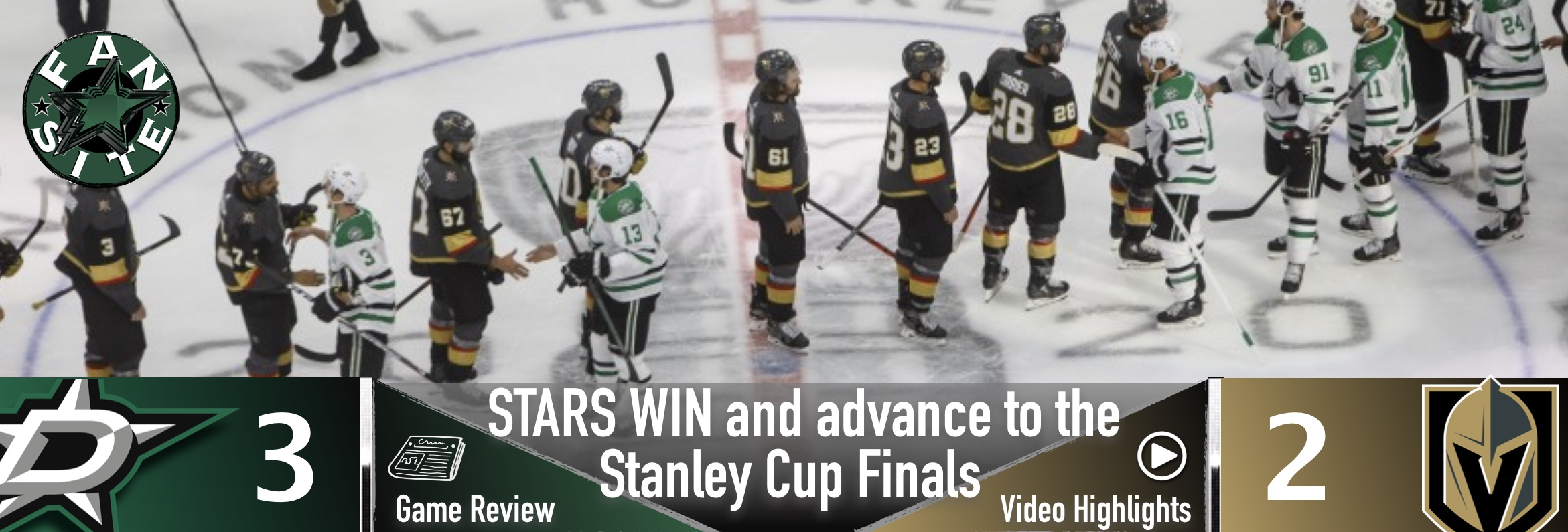STARS WIN and advance to the Stanley Cup Finals!