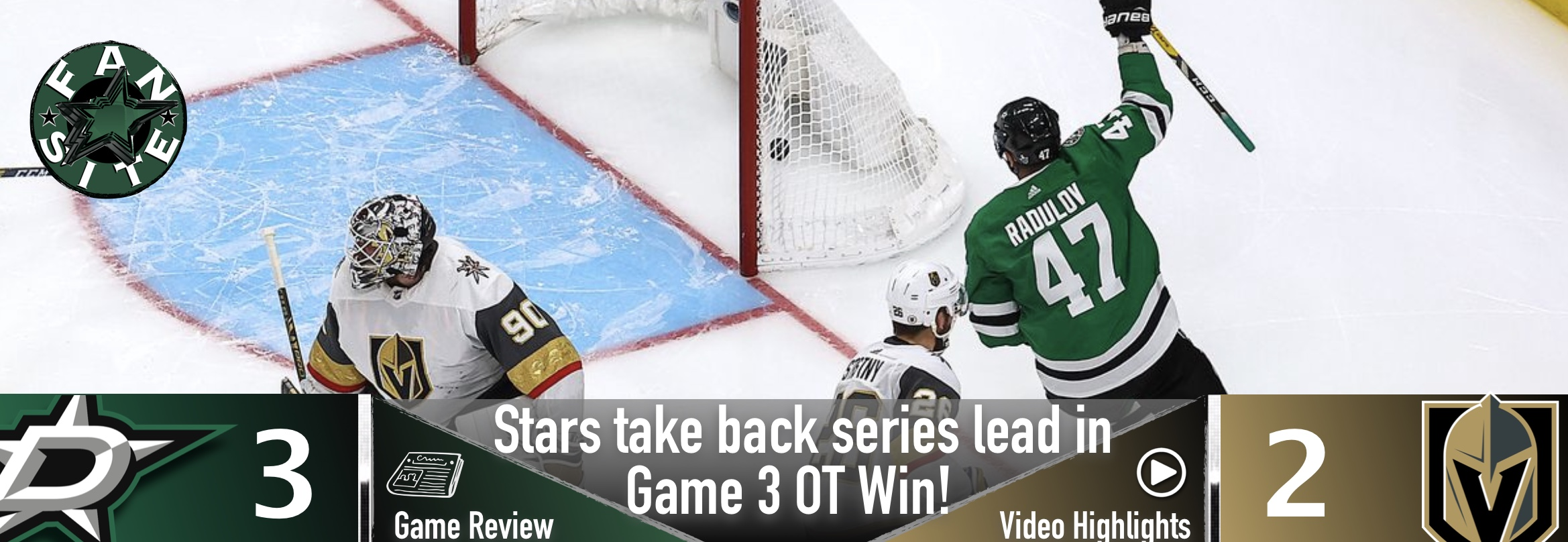 Stars take back series lead in Game 3 OT Win