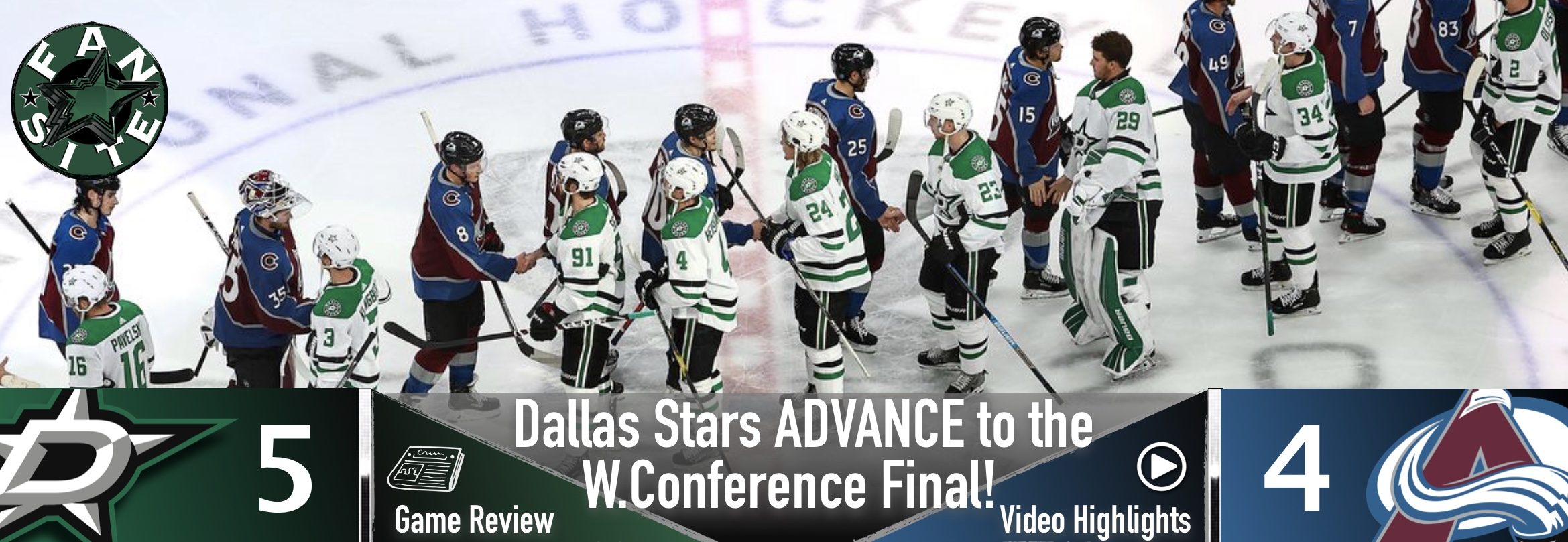 Dallas Stars ADVANCE to the Western Conference Final!