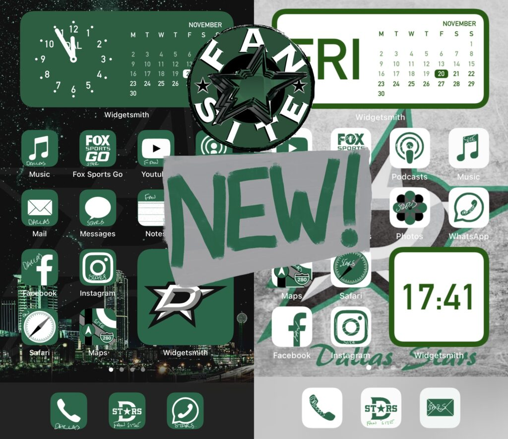Dallas Stars iPhone icons